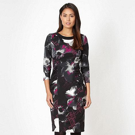 Betty Jackson.Black - Designer black carina flower dress