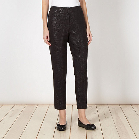 Betty Jackson.Black - Designer black jacquard trousers