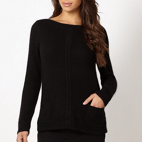 Betty Jackson.Black - Designer black pocket jumper