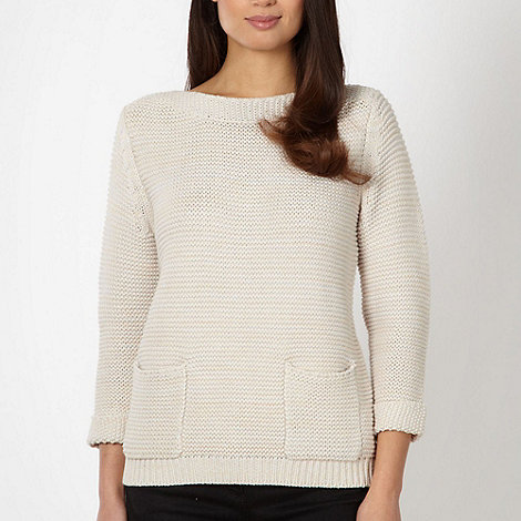 Betty Jackson.Black - Designer natural two pocket jumper
