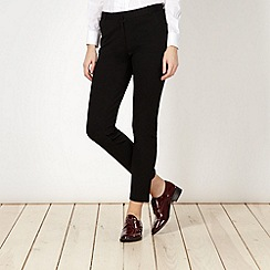 Betty Jackson.Black - Designer black slim leg trousers