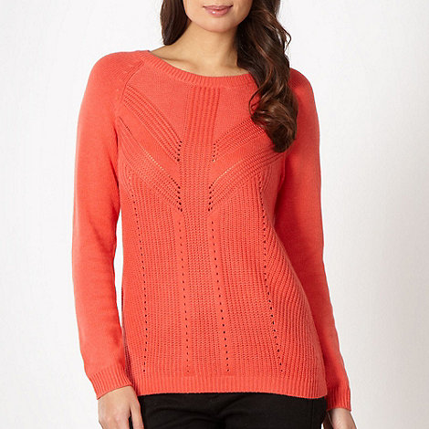 Betty Jackson.Black - Designer coral knitted detail jumper