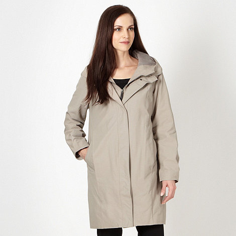 Betty Jackson.Black - Designer natural hooded mac