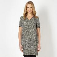 Designer black animal tunic
