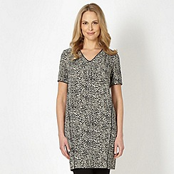 Betty Jackson.Black - Designer black animal tunic