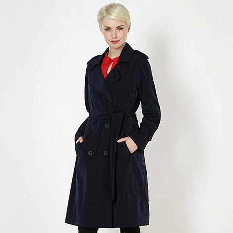 Betty Jackson.Black - Designer navy double breasted mac