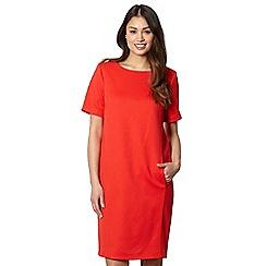Betty Jackson.Black - Designer red waffle textured cocoon dress