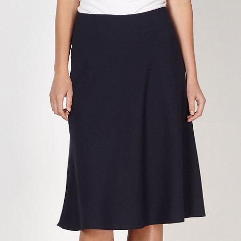 Betty Jackson.Black - Designer navy flared skirt
