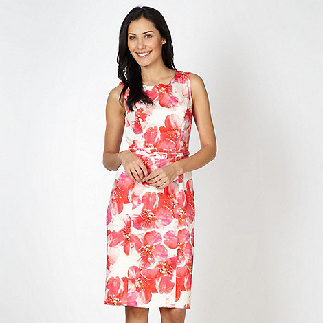 Betty Jackson.Black - Designer pink blossom printed shift dress