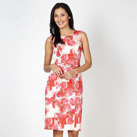 Betty Jackson.Black - Designer pink blossom printed shift dress