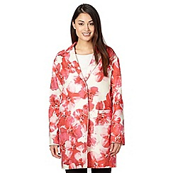 Betty Jackson.Black - Designer pink floral print coat