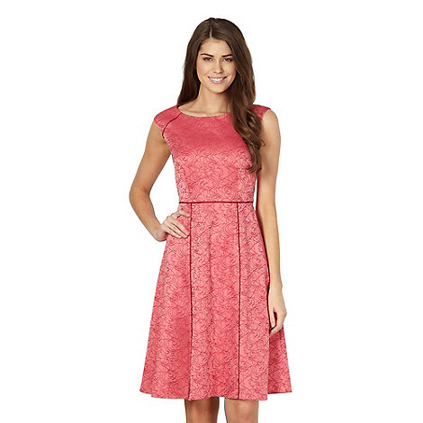 Betty Jackson.Black - Designer pink jacquard floral dress