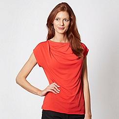 Betty Jackson.Black - Designer red drape front top
