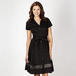 Betty Jackson.Black - Designer black lace insert shirt dress