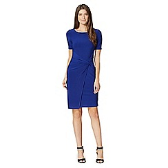 Betty Jackson.Black - Designer royal blue front knot dress