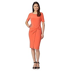 Betty Jackson.Black - Designer orange knot front jersey dress