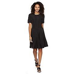 Betty Jackson.Black - Designer black pleated dress