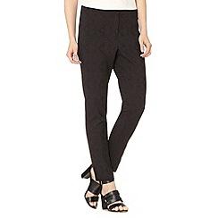 Betty Jackson.Black - Designer black jacquard textured trousers