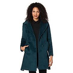 Betty Jackson.Black - Designer turquoise mid length coat