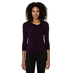 Betty Jackson.Black - Designer dark purple side knot top