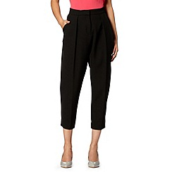 Betty Jackson.Black - Designer black cropped pleat trousers