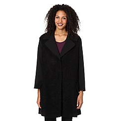 Betty Jackson.Black - Designer black boucle coat