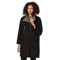 Betty Jackson.Black - Designer black zip detail colour block coat