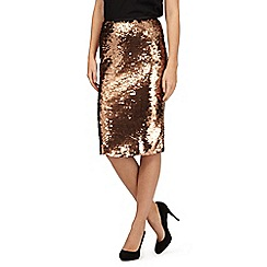 Betty Jackson.Black - Copper sequin pencil skirt