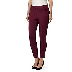 Betty Jackson.Black - Designer dark pink slim leg trousers