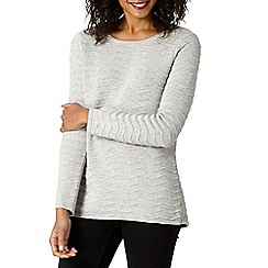 Betty Jackson.Black - Designer silver wave textured jumper