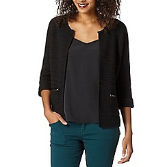 Betty Jackson.Black - Designer black chunky knit cardigan