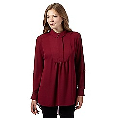 Betty Jackson.Black - Designer dark pink long sleeved shirt