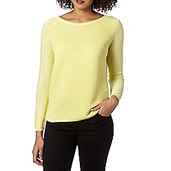 Betty Jackson.Black - Designer lime ribbed jumper