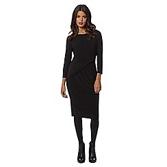 Betty Jackson.Black - Designer black knot dress