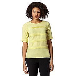Betty Jackson.Black - Designer lime tiered pintuck top