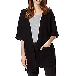 Betty Jackson.Black - Designer black textured kimono cardigan