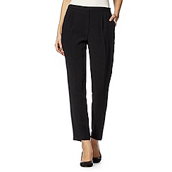 Betty Jackson.Black - Designer black textured side zip trousers