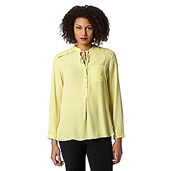 Betty Jackson.Black - Designer lime drawstring shirt