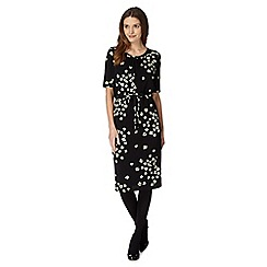 Betty Jackson.Black - Designer black blossom midi dress