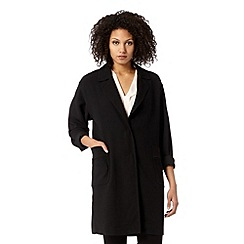 Betty Jackson.Black - Designer black crepe duster coat