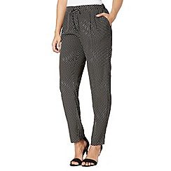 Betty Jackson.Black - Designer black coffee bean print trousers