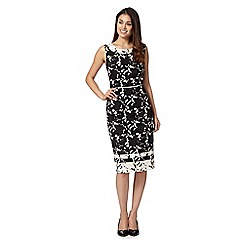 Betty Jackson.Black - Designer black monochrome floral dress