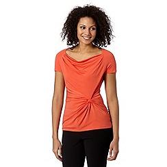 Betty Jackson.Black - Designer orange knot front jersey top