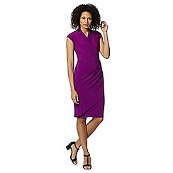 Betty Jackson.Black - Designer plum wrap jersey dress