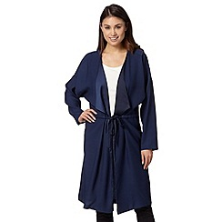 Betty Jackson.Black - Designer navy crepe duster coat