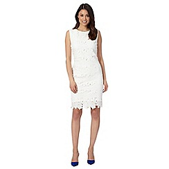 Betty Jackson.Black - Designer ivory floral lace dress