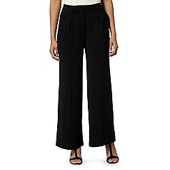 Betty Jackson.Black - Designer black wide leg trousers