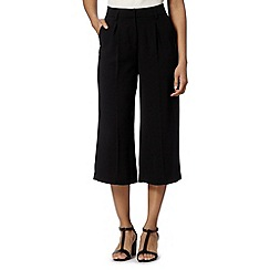 Betty Jackson.Black - Designer black cropped wide leg trousers