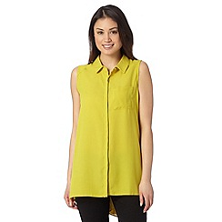 Betty Jackson.Black - Designer lime pleat back shirt