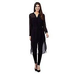 Betty Jackson.Black - Navy maxi shirt